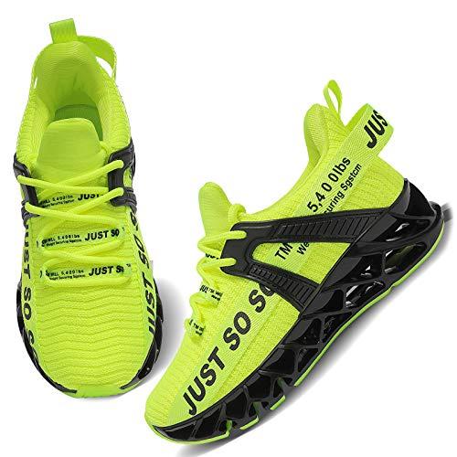 UMmaid Kids Running Tennis Schuhe Leichte Sneakers Jungen und Mädchen Casual Running Schuhe,A1 Grün,35