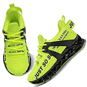 UMYOGO Girls Sneakers, Casual Walking Shoes Kids, Knit Cute Athletic Running Shoes Little Kid Green