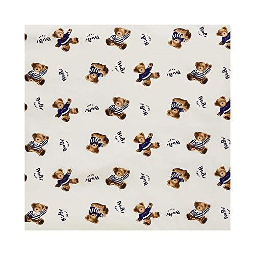 Geizland Protector de cama impermeable lavable y reutilizable para adultos, ancianos, niños, niños pequeños, 80 x 110 (oso de peluche)