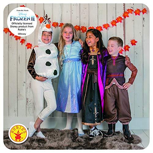 Rubie's- Abito Frozen2 Rubie's Costume Anna Travel Frozen 2 Deluxe Bambini, Multicolore, XL, 300507-9-10 Anni