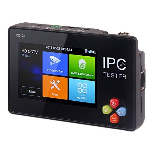Comprobador de Cámara Trunite, 3,5 Pulgadas CCTV Analógico CVBS IP Cámara de Prueba Monitor Pantalla Táctil WiFi para ONVIF Axis Hikvision Dahua