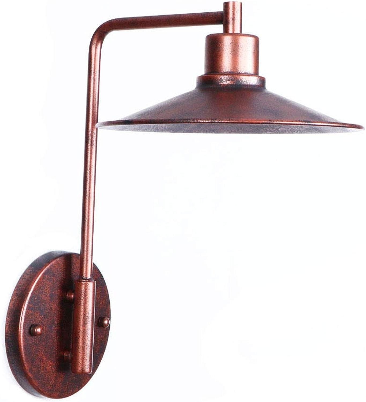 Rusty Village Applique E27 Ampoule avec abat-jour Fer Chambre Applique Murale Restaurant Bar Led Applique