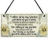 SIGNS Gedenktafel für den Garten, Gartenhaus mit Freundschaft für Mütter und Großmutter, Geschenk