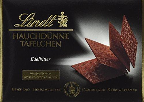 Lindt & Sprüngli Hauchdünne Täfelchen Edelbitter, 2er Pack (2 x 125 g)