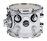 DW Performance Series Mounted Tom - 8 Inches X 10 Inches White Marine FinishPly