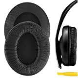 Geekria QuickFit Protein Leather Ear Pads for Sennheíser HD202, HD202S, HD212, HD437, HD447, PX360 Headphones, Replacement Ear Cushion/Ear Cups/Ear Cover, Headset Earpads Repair Parts (Black)