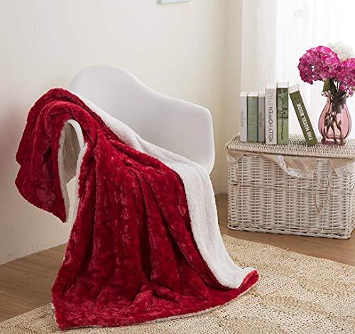 DaDa Bedding Valentine Throw Blanket - Non Shedding Luxury Plush Cobijas Heart...