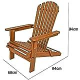 Sonnenstuhl Adirondack Akazienholz klappbar abgerundete Armlehnen Deckchair Liegestuhl Holzstuhl Gartenstuhl - 6