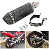 Universal Carbon Fiber Painted 1.5-2'Inlet Exhaust...