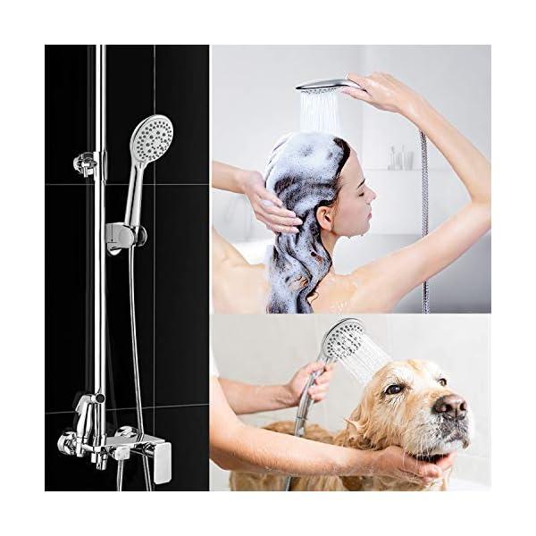 Cabezal de ducha, ducha de mano modelo Redmoo 5, rociador de alta presión, ducha de mano con cabezal de ducha que ahorra…