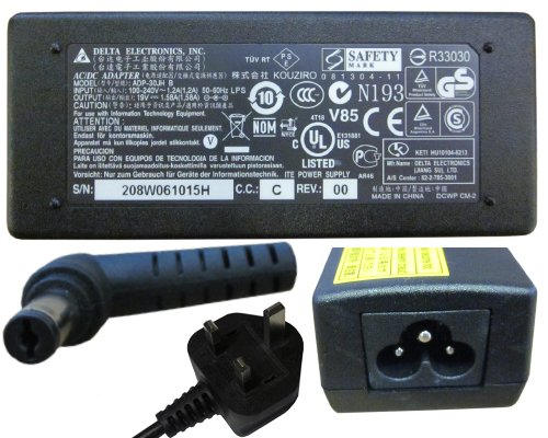 GENUINE DELTA AC CHARGER FOR ACER ASPIRE ONE KAV10 HIPRO HP-A0301R3 B1LF 30W 19V 1.58A NETBOOK LAPTOP AC ADAPTER