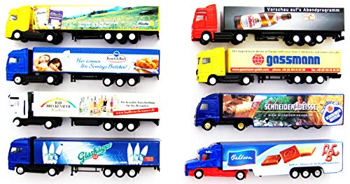 8 verschiedene Werbetrucks - Vitrinenmodelle - Paket 11
