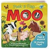 Moo: Peek-a-Flap Children's Board Book (Peek-A-Flap Children's Interactive Lift-A-Flap Board Book)