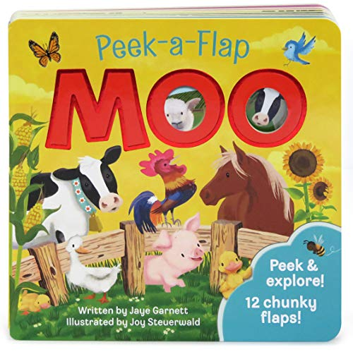 Moo: Peek-a-Flap Children's Board Book (Peek-A-Flap Children's Interactive Lift-A-Flap Board Book)