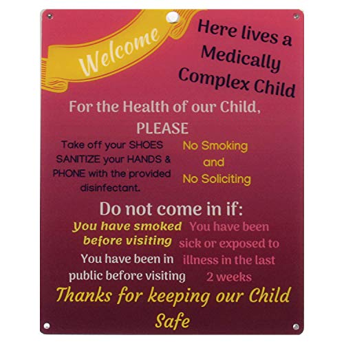 Rolling Buddies Medically Fragile Child Plastic Sign - Red