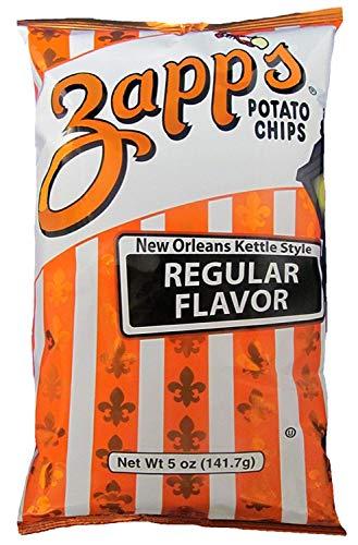 Zapp's New Orleans Kettle Style Potato Chips Regular Flavor, 5.0 OZ (2 Pack)