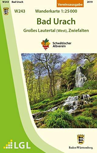 Bad Urach - Großes Lautertal (West), Zwiefalten: Wanderkarte 1:25.000 (Karte des Schwäbischen Albvereins)