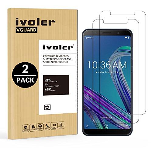 iVoler [2 Pack] Pellicola Vetro Temperato per ASUS Zenfone Max PRO (M1) ZB601KL / ZB602KL 6.0'', Pellicola Protettiva, Protezione per Schermo