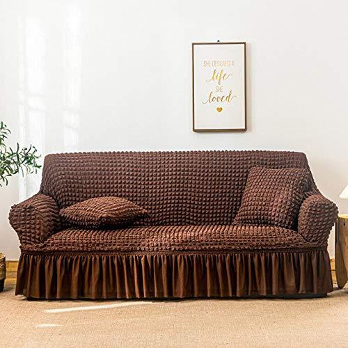 Funda de sofá elástica Estampada, Antideslizante, Resistente al Desgaste, fácil de Limpiar, protección de sofá-LightCoffee_1-Seater 65-115cm