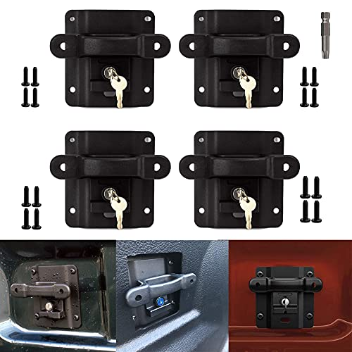 Boxlink Tie Down Anchors for Ford F150 F250 F350 Raptor 2015-2020 with Lock Buckle,Truck Bed Hook Mounting Cleats Plates and Anti-Theft Screws - Up To 1000 Lbs