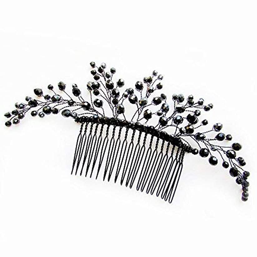 シンジケート干渉する活気づくMissgrace Black Hair Comb Halloween Special Occasion Headpiece Black Hair Accessories [並行輸入品]