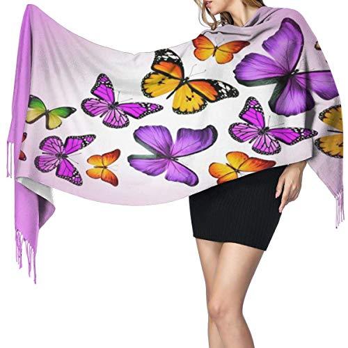 XCNGG Imitation Kaschmir Fransen Schal Schal Long Fashion Schal Scarf Butterflies...