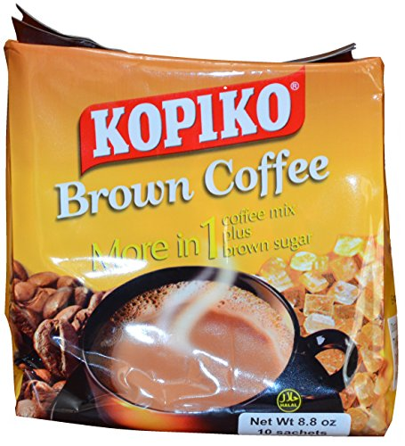 Kopiko Instant Brown Coffee, 8.8 oz (10 Sachets)