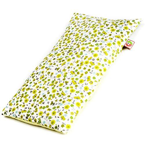 Saco Térmico Semillas Multiusos - Almohada para Calentar en Microondas (30x17 cm) - Bolsa de Calor - Cojín de Semillas con Funda Lavable, Tela de Algodón 100% y Olor a Lavanda (Flores)