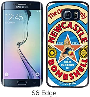 Newcastle Bombshell Pale Blonde Ale Black Screen Cover Case Fit forSamsung Galaxy S6 Edge,Hot Sale Cover