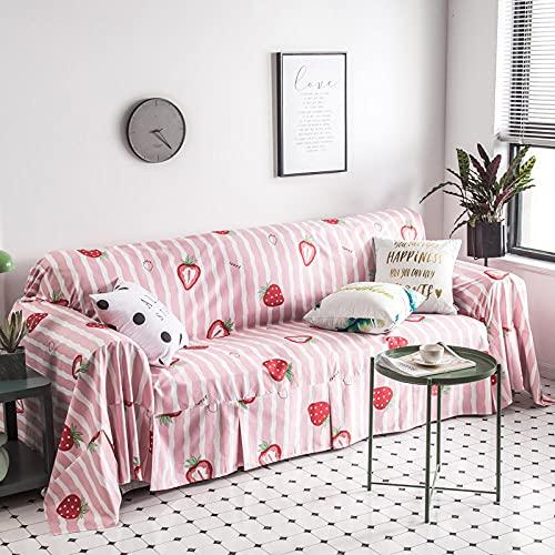 haoyunlai Soffa överkast säng filt vardagsrum soffa täcke av soffa handdukar soffa filt avslappnad TV matta sängskydd-jordgubb_180 x 380 cm