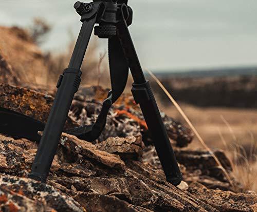 Magpul Rifle Bipod Gun Rest for Hunting and Shooting, M-LOK, Black