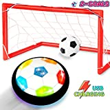 Toyk Kids Toys - LED Light Hover Soccer Ball Set with 2 Goals - Air Power Training Ball Playing Football Game...