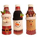 Adornos de Navidad Creativo (Tres piezas) -2019 nuevos elementos decorativos for la Navidad de Santa Claus vino tinto Champagne Juegos de biberones Conjuntos Conjuntos De botella de dibujos animados d