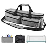 Double-Layer Carrying Bag Compatible with Cricut Explore Air (Air2), Cricut Maker, Silhouette Cameo 3, Gray
