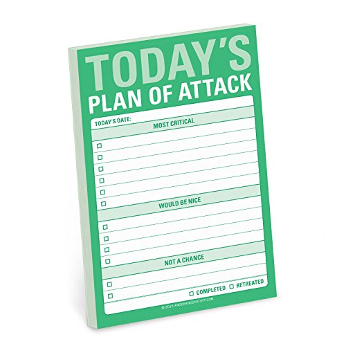 Knock Knock Today`s Plan of Attack Great Big Stickies (Stationery)