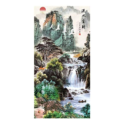 5D Full Drill Diamond Painting Kit Chinese Scenery Painting Cross Stitch Kits Painting by Numbers Rhinestone Painting Kits for Adults Embroidery Arts Craft Canvas Pictures Set Home Decor 45X85CM