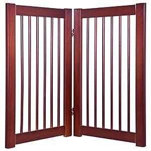 "Giantex 30"" Configurable Folding Free Standing Panel Wood Pet Dog Safety Fence w/Gate (40"" W)"
