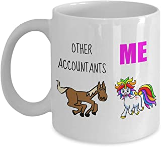 Accountant Unicorn Mug Gift for Christmas Birthday Ideas For Departing Favorite Employee Office Staff Coworker Retirement
