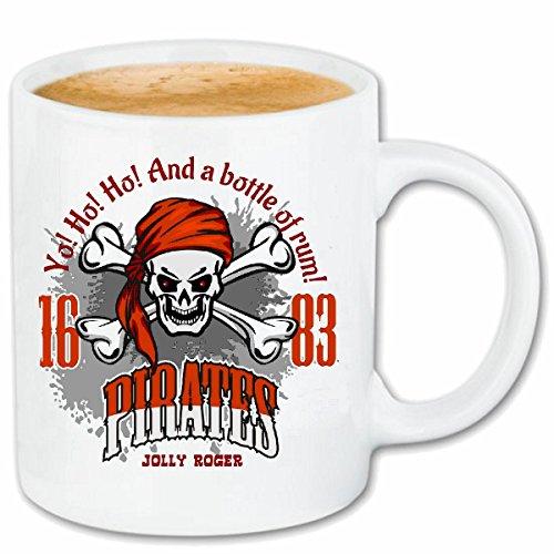 taza para caf Una botella de ron CRNEO DEL PIRATA CORSARIO CORSARIO del pirata Crneo esqueltico del crneo Caso duro de la cubierta Telfono Cubiertas cubierta para el330 ml de cermica en blanco