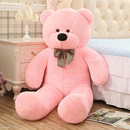 EXQULEG Teddybär Schönes Geschenk Plüschbär Riesen Gentleman Plüsch Bär Puppe für Geburtstag Hochzeit Valentinstag Weihnachten (Rosa, 80cm)