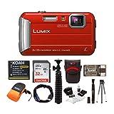 Panasonic LUMIX DMC-TS30 Digital Camera (Red) with 32GB Memory Card and...