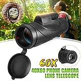 KAR Handteleskop, Monocular 40x60 Leistungsstarke Fernglas Hohe Qualität Zoom Große Nachtsicht Military HD Berufsjagd