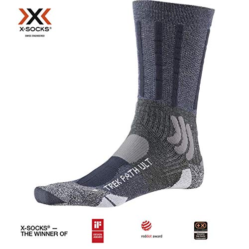 X-SOCKS Trek Path Ultra Light Chaussette Mixte Adulte, Midnight Blue/Dolomite Grey, FR : XL (Taille Fabricant : 45-47)