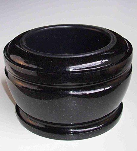 designgrab Bol funéraire exclusif - Diamètre : 25 cm - En granit suédois noir SS1