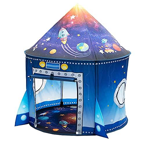 Tienda para Niños, Ouinne Tienda de Campaña Infantil Carpa Infantil Plegable Casa de Juegos para Interiores y Exteriores Castillo Tienda para Niños (Azul)