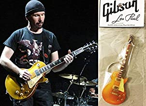 Keychain Guitar Gibson Les Paul Gold Top The Edge U2