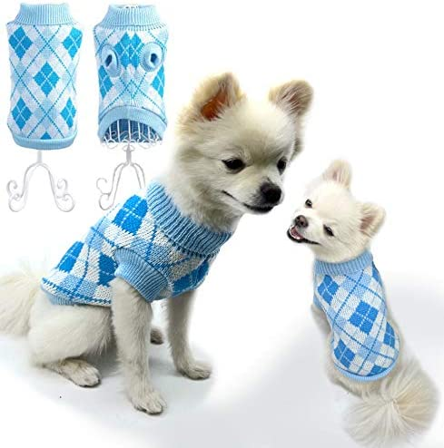SunteeLong Dog Sweater Puppy Cat Spring new work one after another Argyle Fort Worth Mall Clothes for Sweaters