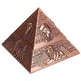 Agatige Decoración de estatuilla de pirámide, Adornos artesanales de faraón Egipcio de Metal Vintage para decoración/Regalo/colección(Cobre)