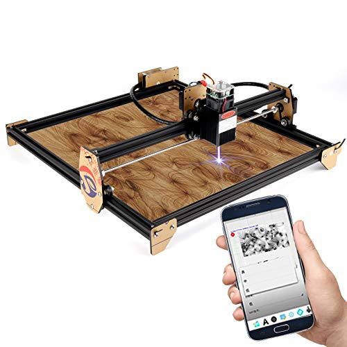 20W Machine de gravure laser, Graveur CNC pour débutant avec zone de travail de 41 X 37 CM Super facile à installer et à utiliser Graveur pour sculpter et couper du bois en plastique (20W)
