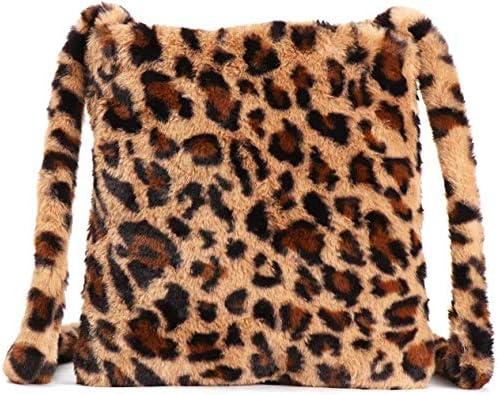BABABA Plush bag women s bag new leopard single shoulder bag leisure large capacity wool straddle product image